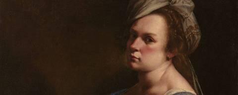 Autorretrato da pintora barroca Artemisia Gentileschi, datado 1615.