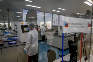 Instalações da fábrica da União Química, em Brasília (DF)