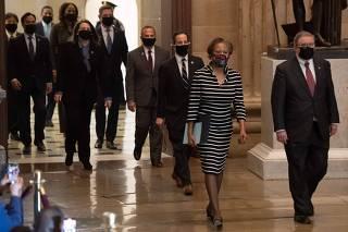 House Speaker Pelosi delivers Trump impeachment article to the Senate