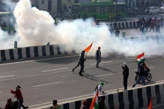 INDIA-NEW DELHI-CLASHES