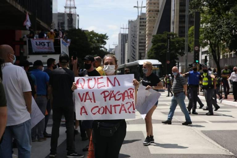 Setor de bares e restaurantes protestaram contra endurecimento da quarentena em SP