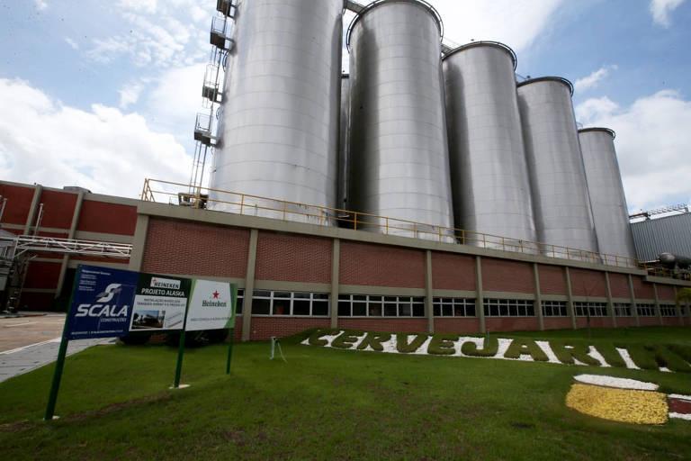 Fábrica da Heineken em Alagoinhas, na Bahia