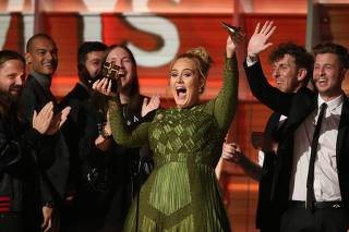 Adele breaks the Grammy for Record of the Year for