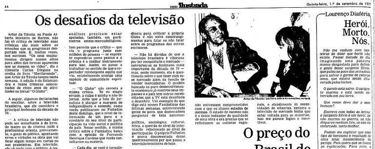 Coluna do jornalista Lourenço Diaféria do dia 1º.set.1977