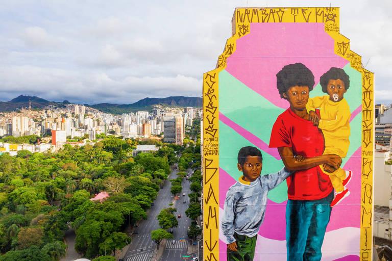 FESTIVAL CURA 2020 - Circuito Urbanos de Arte Artista Robinho Santana. Foto: Caio Flavio / Área de ServiçoInsta: @cf_drones_bh / @area.de.servico