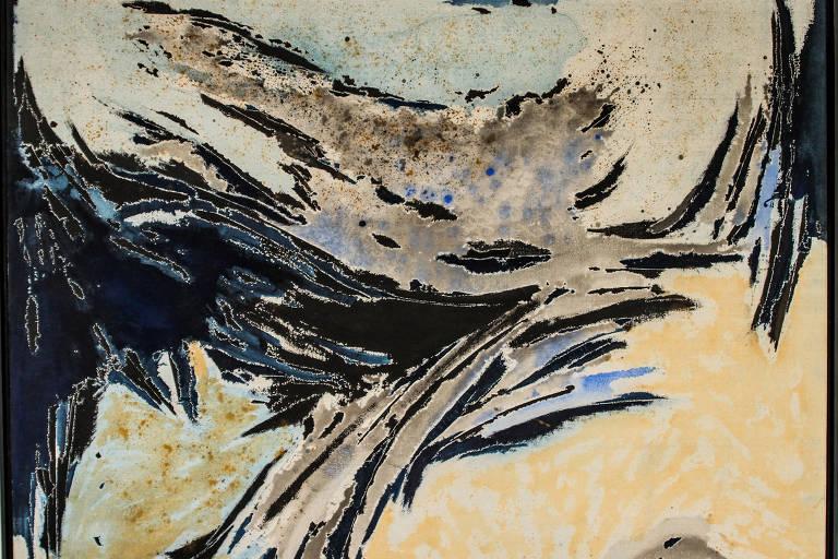Quadro da fase 'Anóbios', de 1961, de Ivan Serpa