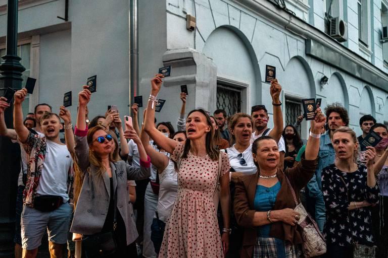 Seis meses de protestos em Belarus