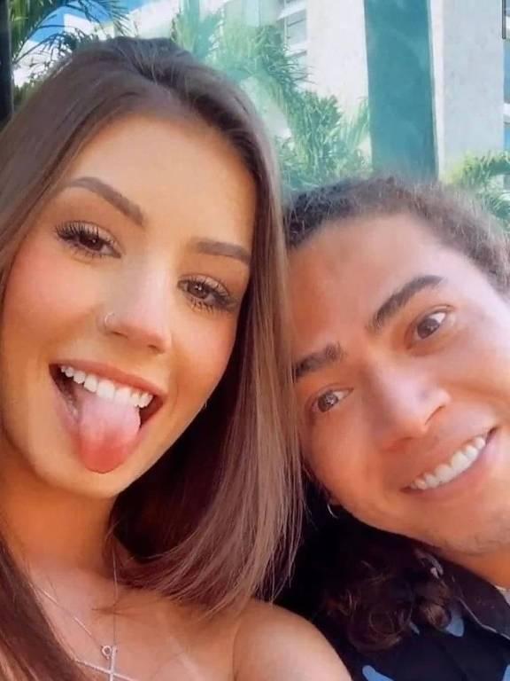 O casal Whindersson Nunes e  Maria Lina Deggan