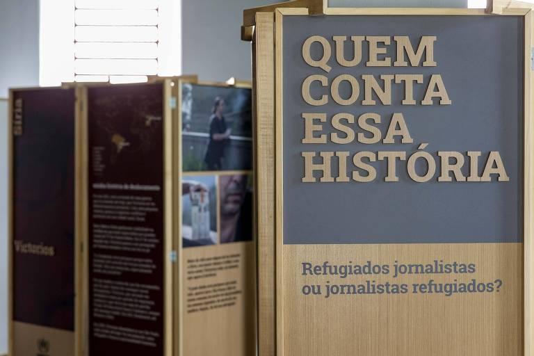 Exposição 'Quem Conta Essa História: Jornalistas Refugiados ou Refugiados Jornalistas?'