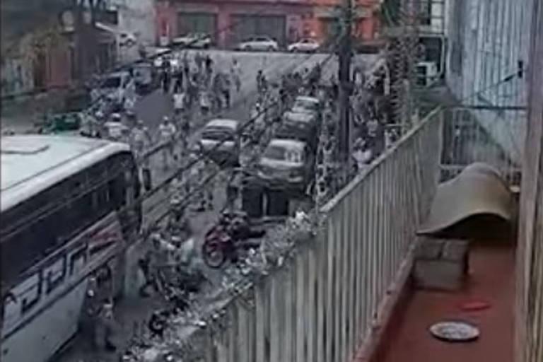 Correria durante briga de torcedores na zona sul de São Paulo