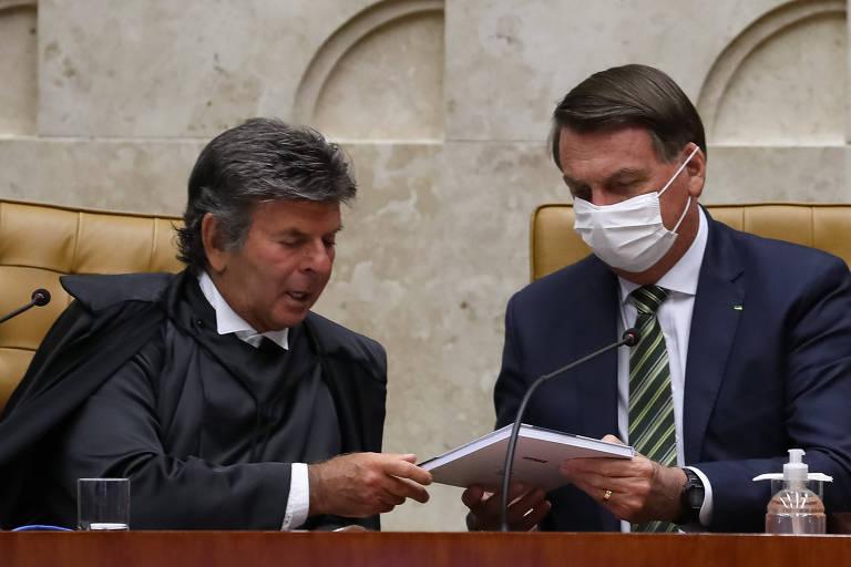 Fux recebe Bolsonaro fora da agenda e pede que indicação ao STF seja anunciada após saída de Marco Aurélio
