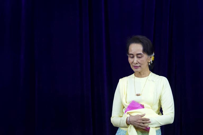 Detida por militares, líder civil de Mianmar é acusada de importação ilegal de walkie-talkies