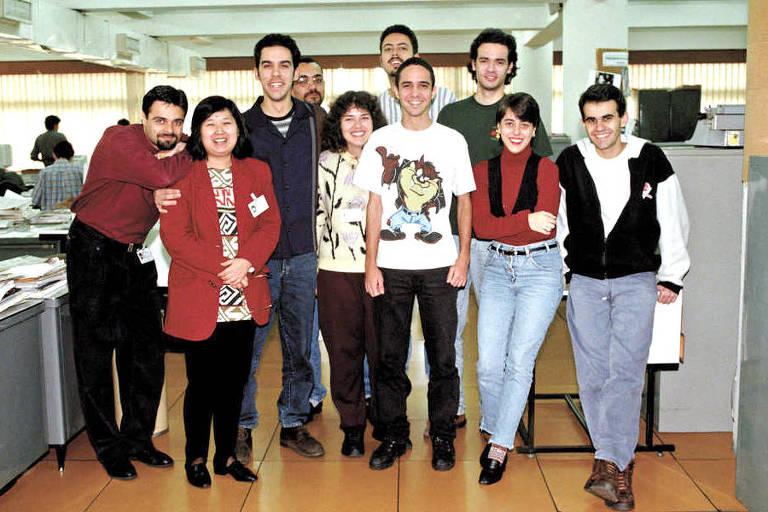 Participantes da 24ª turma do Programa de Treinamento na Redação do jornal