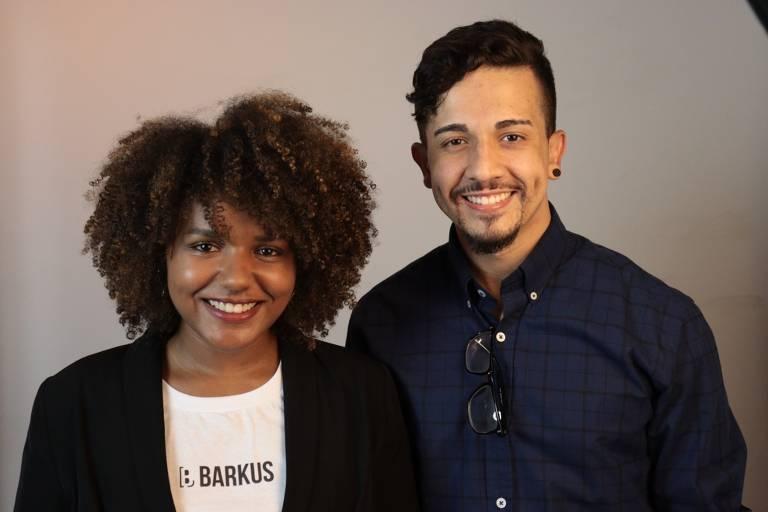 Bia Santos, CEO da Barkus Educacional, e Marden Rodrigues, CPO