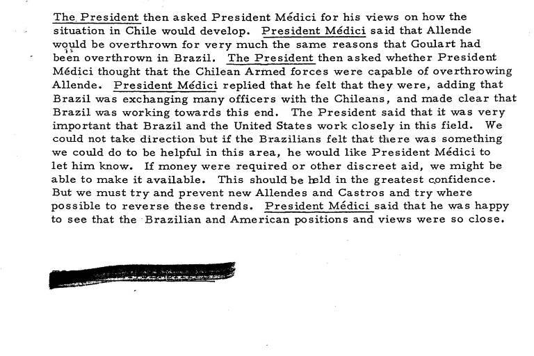 documento antigo escaneado com falar dos presidentes