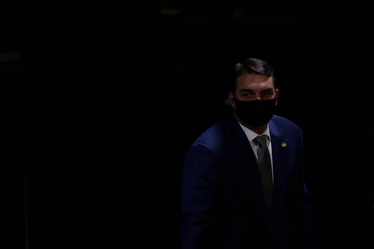 Flávio Bolsonaro (Republicanos-RJ) no plenário do Senado
