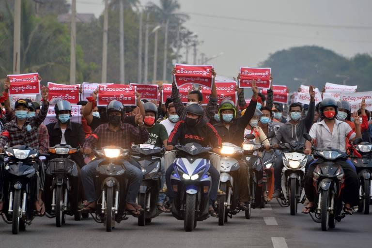 Em 3º dia seguido de protestos, mais de 60 mil vão às ruas de Mianmar contra golpe militar