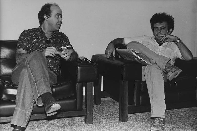 Geraldo Mayrink e Glauber Rocha