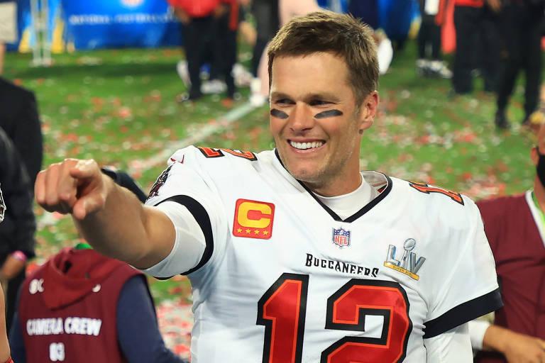 Tom Brady comemora seu sétimo sétimo título de Super Bowl