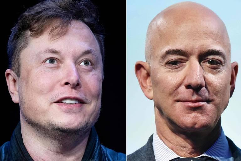Musk provoca Jeff Bezos e esquenta corrida espacial de bilionários