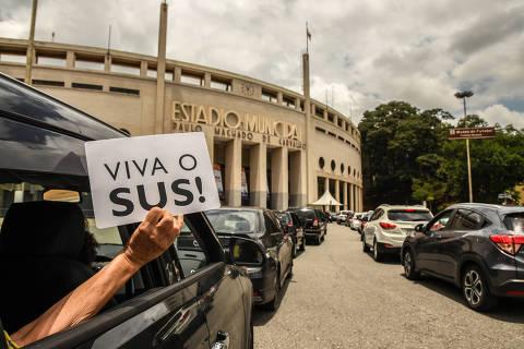 Prefeitura de SP suspende drive-thru de vacinação a partir desta quarta (14)