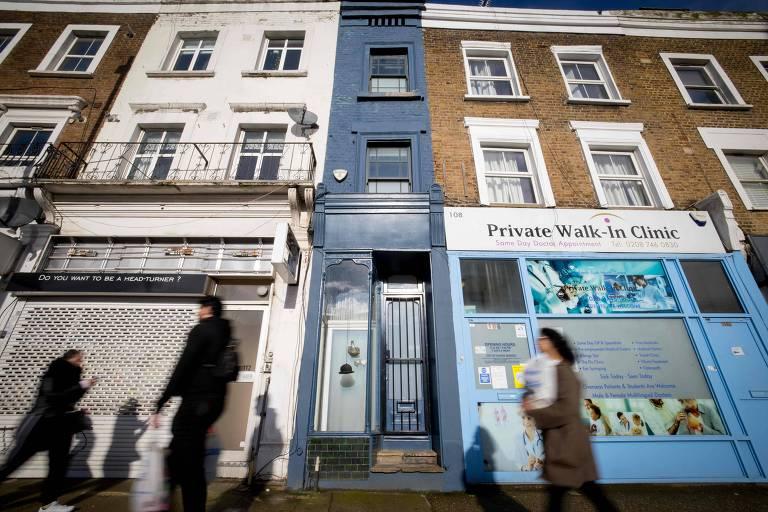 Casa mais estreita de Londres está à venda por cerca de R$ 6,5 milhões
