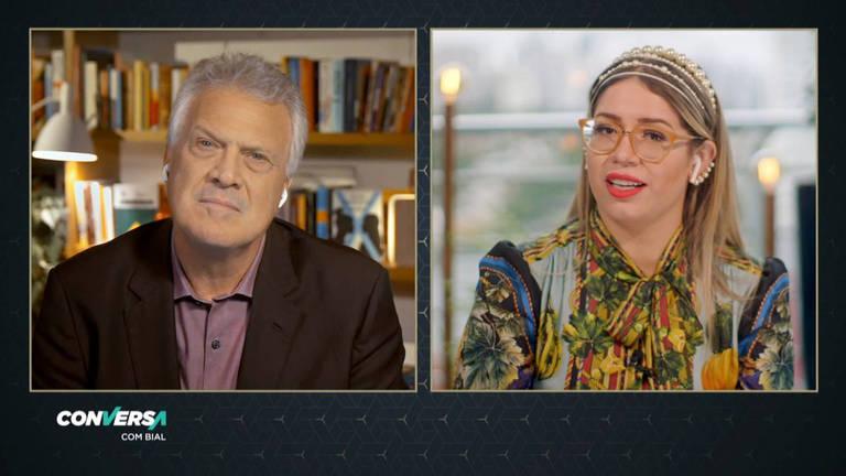 Marília Mendonça participa do programa Conversa com Bial