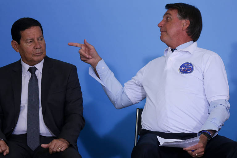 Troca de farpas entre Bolsonaro e Mourão