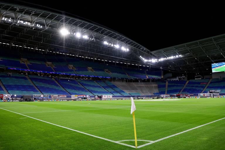 Estádio do RB Leipzig não poderá receber o Liverpool na próxima semana