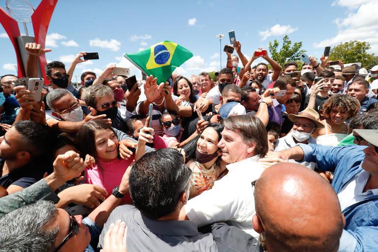 O presidente Jair Bolsonaro em 2021