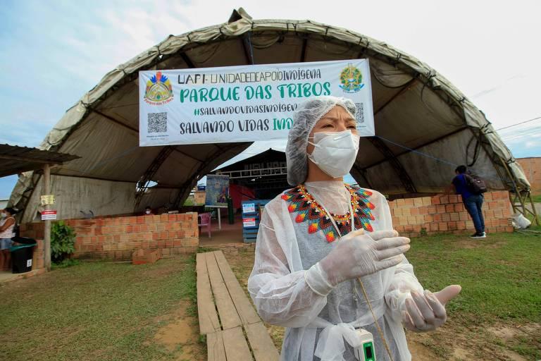 Indígenas criam enfermaria de campanha para atender pacientes com Covid-19 em Manaus