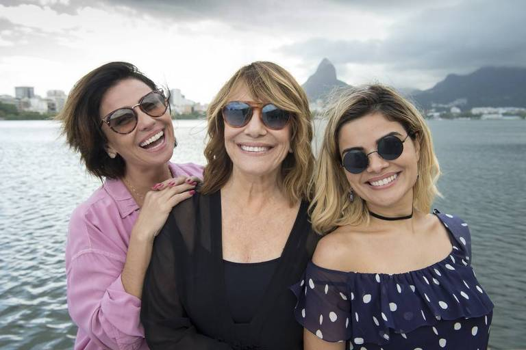"""Da esq. para dir. Giovanna Antonelli, Renata Sorrah e Vanessa Giácomo estão no elenco de """"Filhas de Eva"""""""