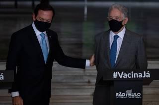 João Doria e o ex-presidente FHC falam sobre a vacina contra o Coronavírus