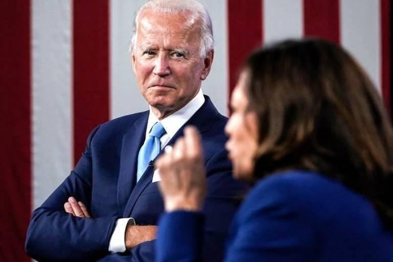 O presidente dos EUA, Joe Biden, e a vice-presidente Kamala Harris