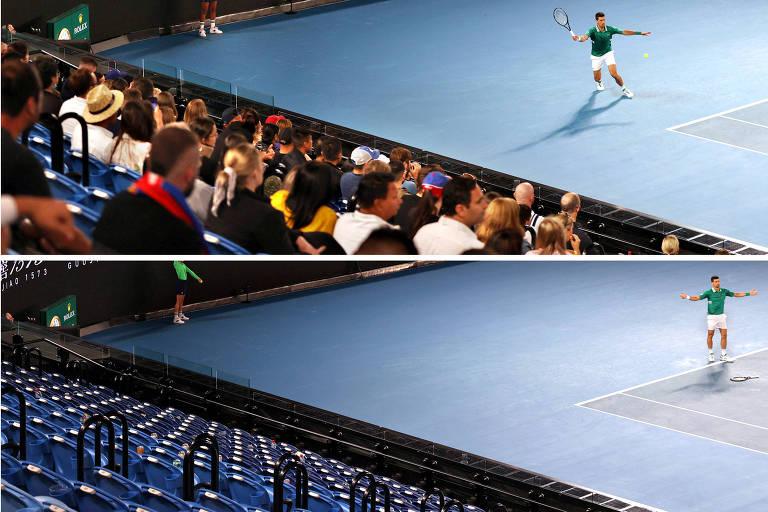 Confinamento faz Australian Open mandar público para casa durante jogo