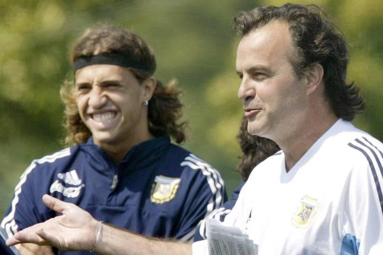 Na seleção argentina, Hernán Crespo trabalhou com Marcelo Bielsa, uma de suas referências táticas