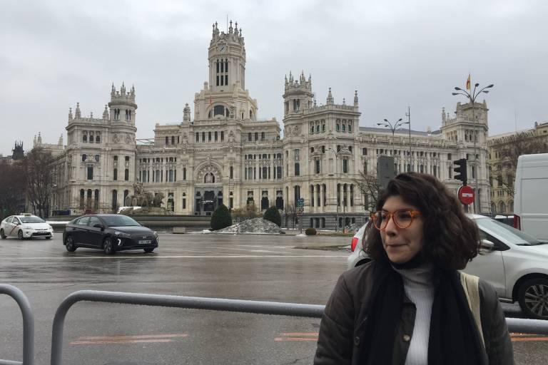 Caroline Manolio, intercambista que estuda em Madri