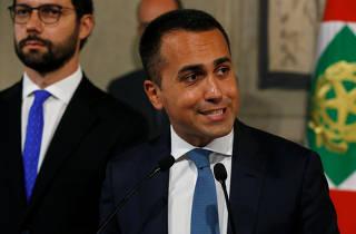FILE PHOTO: 5-Star Movement leader Luigi di Maio speaks to the media after consultations with Italian President Sergio Mattarella in Rome