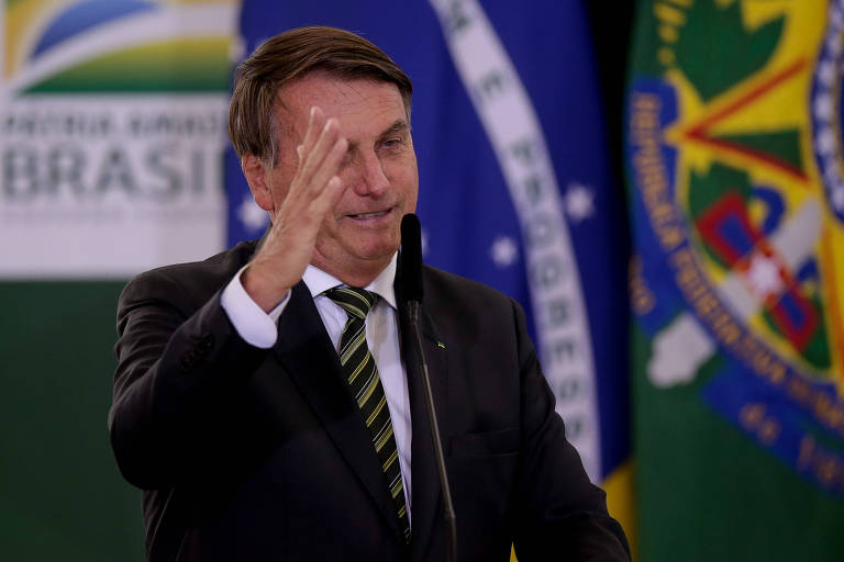 O presidente Jair Bolsonaro, no Palácio do Planalto