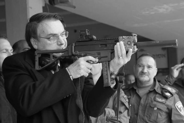 Bolsonaro atira com metralhadora em Israel
