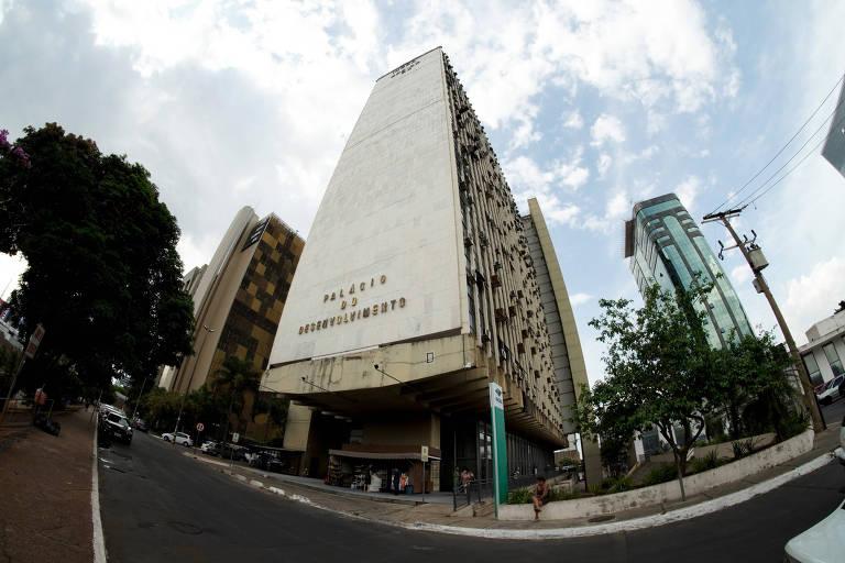Fachada do prédio branco do  Instituto Nacional de Colonização e Reforma Agrária (Incra).
