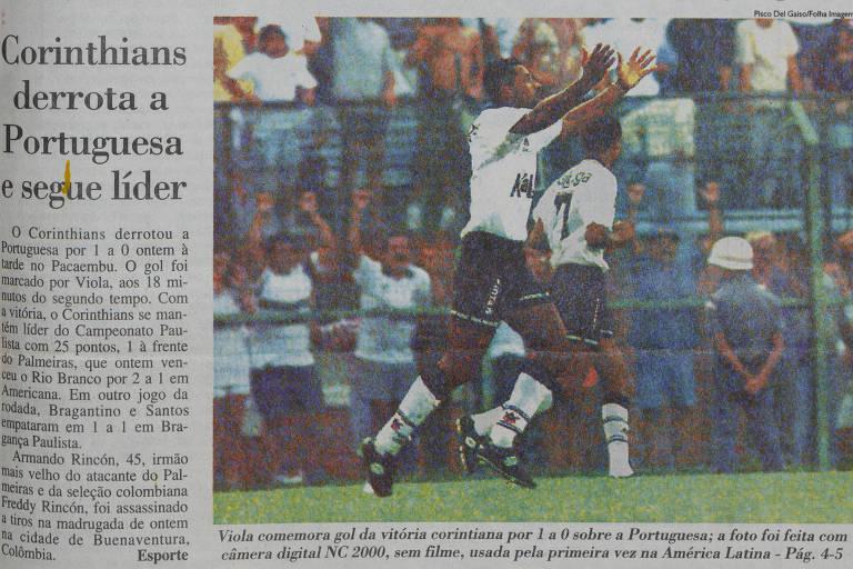 Reprodução da primeira foto digital publicada pela Folha