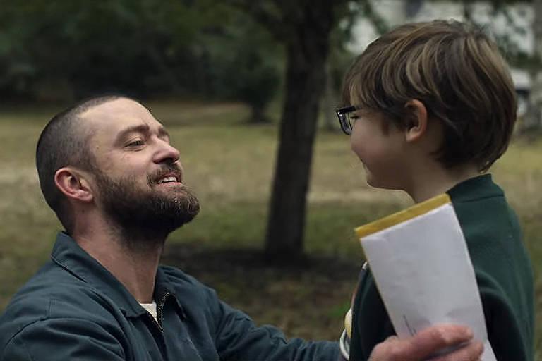 """Justin Timberlake e Ryder Allen em """"Palmer"""" (2021)"""
