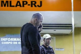 Deputado Daniel Silveira faz exame de corpo de delito no IML do Rio