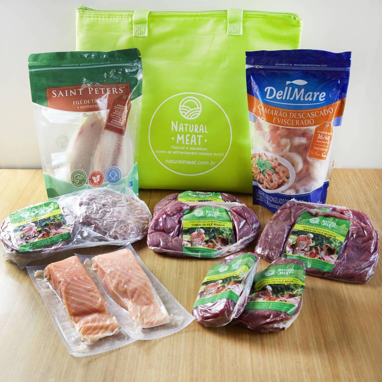 Produtos da Natural Meat, que aposta nos cortes congelados com a própria marca