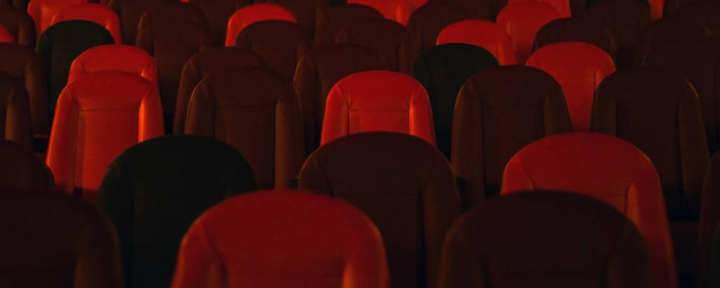 A sala de exibição do Cinesala, em Pinheiros