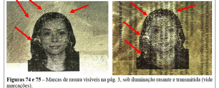 Perícia da PF do passaporte canadense falso da cinegrafista e ativista iraniana Mahnaz Alizadeh