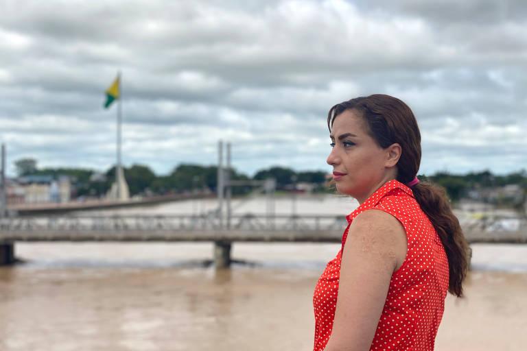 Ativista de direitos humanos e cinegrafista iraniana Mahnaz Alizadeh, em Rio Branco (AC)