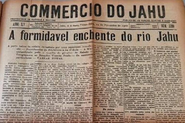 Capa do jornal Commercio do Jahu