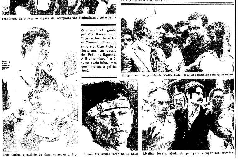 Reprodução 2 da Folha de S.Paulo de 21 de fevereiro de 1971, que abordava a conquista do Torneio do Povo pelo Corinthians